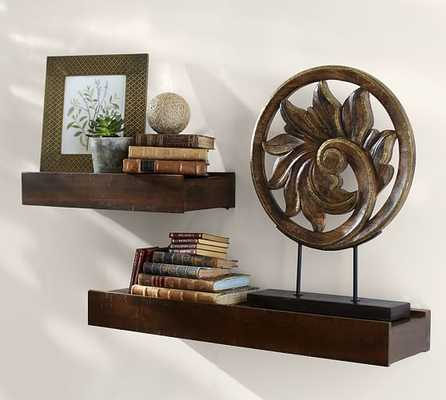 RUSTIC WOOD SHELF 2' SHELF - Pottery Barn