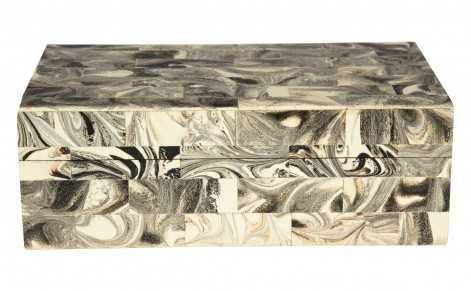 MARBLED RECTANGULAR BOX - Jayson Home