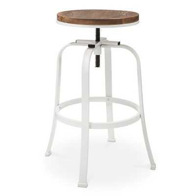 Dakota Adjustable Barstool Metal - The Industrial Shop - White - Target