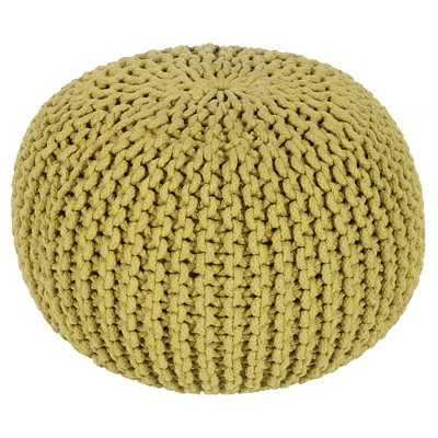 """Surya Alexia Knotted Sphere Pouf 20"""" x 20"""" x 14"""" - Target"""