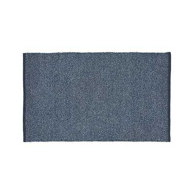"Kavi Blue Wool-Blend 30""x50"" Rug - Crate and Barrel"