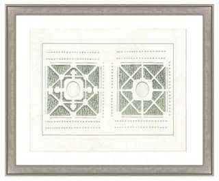 "Green Architecture II-18"" x 22""-Framed - One Kings Lane"
