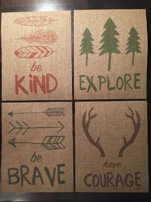 "Burlap Fabric Print Set - 8"" X 10"" - Unframed - Etsy"