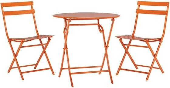 FOLLIE OUTDOOR 3-PIECE BISTRO SET - Burnt orange - Home Decorators