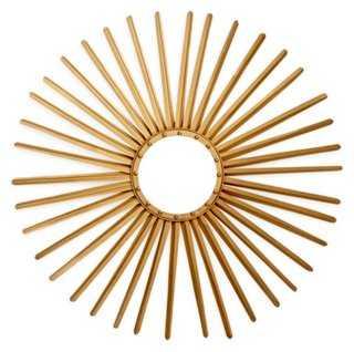 Sunburst Mirror, Gold - One Kings Lane