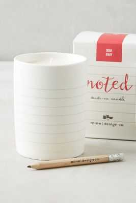 Take Note Candle - Anthropologie