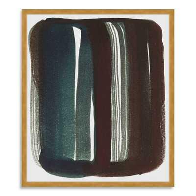 "The Arts Capsule Ink Print - Brush Stroke - 19""w x 22""h -Gold Frame - West Elm"