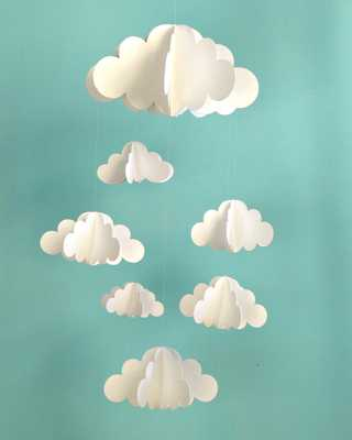 SALE!!!!!!!! Cloud Baby Mobile, Hanging Baby Mobile, 3D Paper Mobile, Nursery Mobile, Baby mobile, N - Etsy