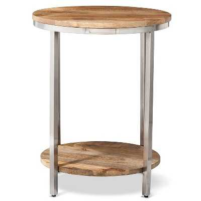 "Berwyn Large round end table Metal and Wood - Thresholdâ""¢ - Target"