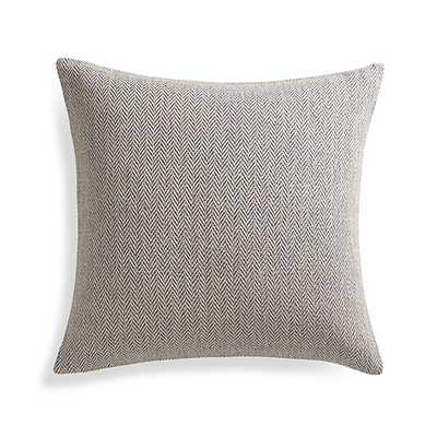 "Mylo Blue 20"" Pillow with Feather-Down Insert - Crate and Barrel"