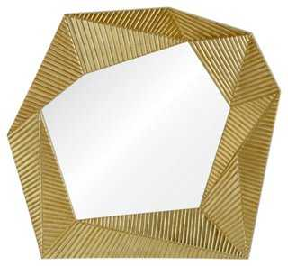 Glamoro Wall Mirror, Gold - One Kings Lane