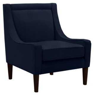Scarlett Swoop-Arm Chair, Navy - One Kings Lane