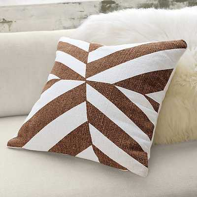 """Changes 23"""" pillow- white/brown- With insert - CB2"""