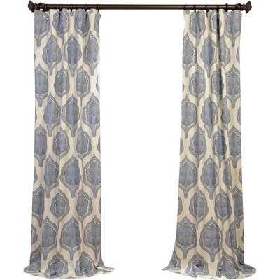 Arabesque Twill Single Curtain Panel - Wayfair