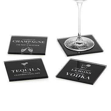 Cocktail Confessions Coasters - Set of 4 - Z Gallerie
