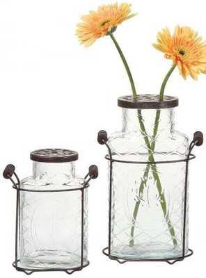 GLASS JAR VASE Large - Home Decorators