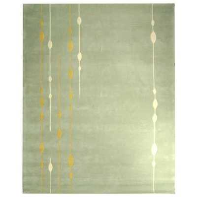 Soho Vines Mint Green New Zealand Wool Rug (7'6 x 9'6) - Overstock