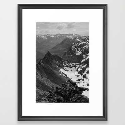 """FRAMED ART PRINT-20"""" X 26""""-Scoop black frame - Society6"""