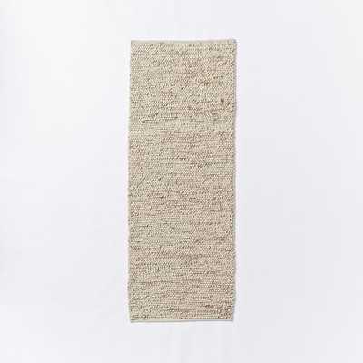 Mini Pebble Wool Jute Rug - Natural/Ivory - West Elm