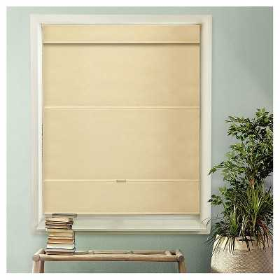 Chicology Cordless Magnetic Roman Shades Mountain Almond - Target