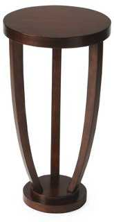 """14"""" Mercer Round Accent Table, Cherry - One Kings Lane"""