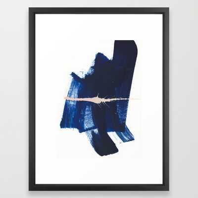 """Brush strokes 4 - 20"""" x 26"""" - Vector Black Frame - Society6"""