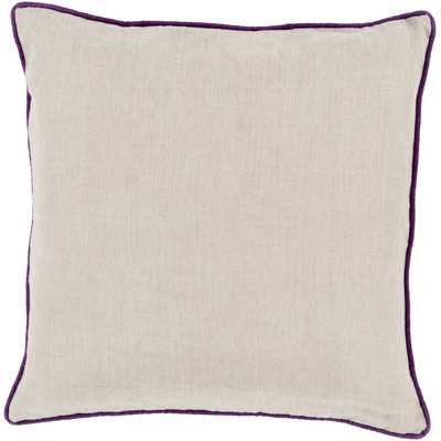 Franklin Bordered Linen Throw Pillow by Beachcrest Home - Wayfair