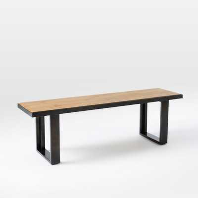 "Industrial Oak + Steel Bench - 58"" - West Elm"