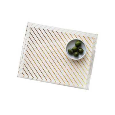 Gold Stripe Acrylic Tray - Domino