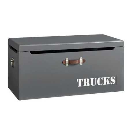 Tucker Toy Chest, Charcoal - Pottery Barn Kids