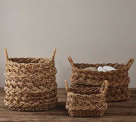 Jamile Round Tote Basket - Pottery Barn