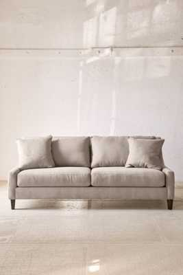 Collins Microfiber Sofa - Light Grey - Urban Outfitters