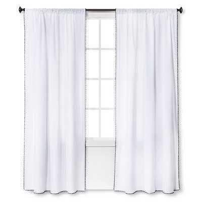 "Nate Berkusâ""¢ Mini Fringe Curtain Panel - Target"