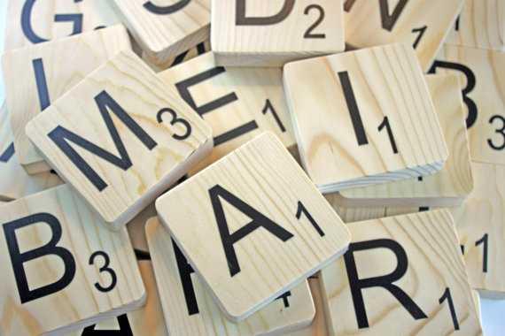 "7.25"" Large Scrabble Letters Wood Tiles - Regular Tile - Etsy"