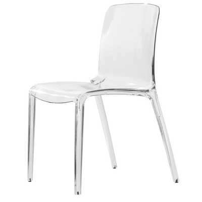 Laos Clear Modern Dining Chair - Overstock