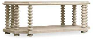 Granada Spindle Coffee Table, Natural - One Kings Lane