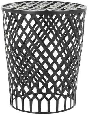 Thor Welded Iron End Table - Black - Domino