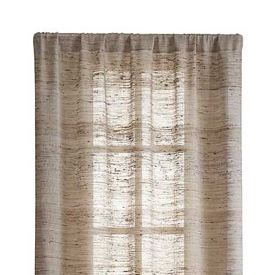 "Hayden 48""x96"" Silk Curtain Panel - Crate and Barrel"