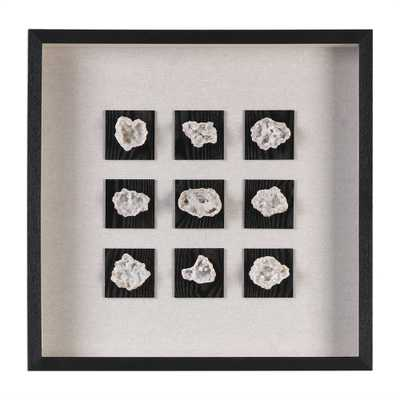 Geode, Shadow Box- 22 W X 22 H X 2 D (in)- Black frame with mat - Hudsonhill Foundry