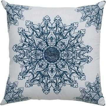 "REENA SEQUIN PILLOW - WHITE/BLUE - 18""Hx18""Wx3""D - Polyester fill insert - Home Decorators"