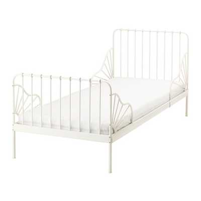 MINNEN-Ext bed frame with slatted bed base, white - Ikea