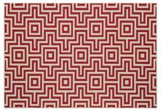Burbank Outdoor Rug, Red - One Kings Lane