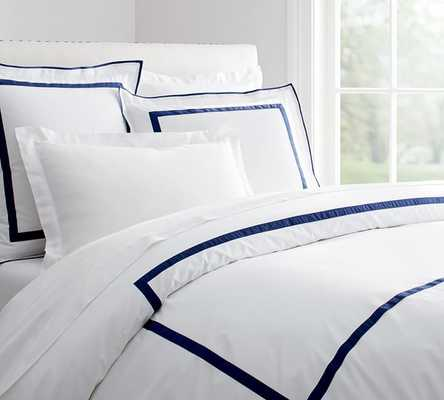 MORGAN DUVET COVER, KING/CAL. KING, TWILIGHT BLUE - Pottery Barn
