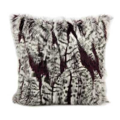 Mina Victory Faux Fur 18-inch Throw Pillow - Overstock