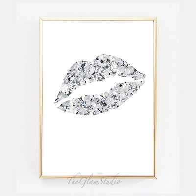 Diamond Lip Print - 55 x 71 cm - unframed - Etsy