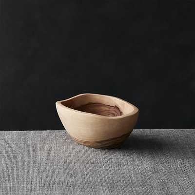 "Olivewood 4.72""x3.5"" Nibble Bowl - Crate and Barrel"