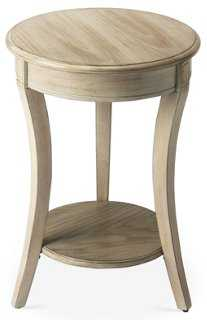 """18"""" Haven Round Accent Table, Driftwood - One Kings Lane"""