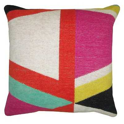 """Yarn Dyed Geo Pillow - 18"""" x 18"""" - Polyester Insert - Target"""