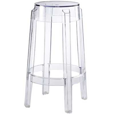 CASPER COUNTER STOOL IN CLEAR - Modway Furniture
