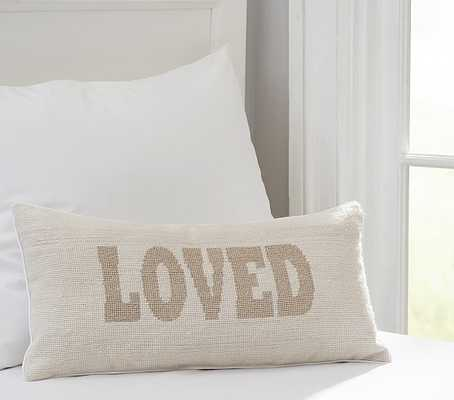 "The Emily & Meritt Decorative Pillows - Loved-10"" x 20""-Insert sold separately - Pottery Barn Kids"